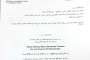 ورشة عمل basic startup micro business finance for non -finance professionals