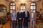 استقبال أ.د.حسين منصور بمجلس الكلية لتوقيع بروتوكول تعاون مع الهيئة العامة لسلامة الغذاء