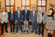 الوفد اليابانى برئاسة  Prof. Mitsuo Ochi رئيس جامعة هيروشيما أثناء زيارتة لكلية الزراعة جامعة القاهرة